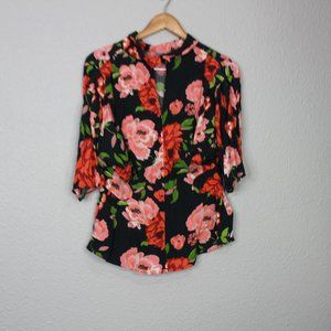 Zara TRF Collection Floral Print High Neck Blouse